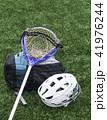 Lacrosse stick, helmet and bag 41976244
