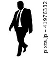 Silhouette of a walking man in a business suit 41976332
