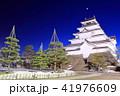 鶴ヶ城冬景色夜景(荒城の月) 41976609