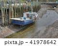 Halls Harbour, Nova Scotia boat at low tide 41978642