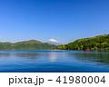 富士山 新緑 芦ノ湖の写真 41980004