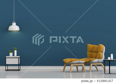 3D rendering of interior modern living room  41986167
