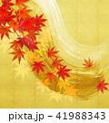 和-筆-金箔-紅葉 41988343