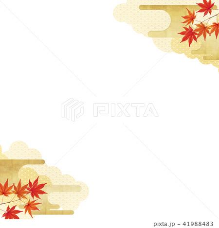 和-背景-秋-紅葉 41988483