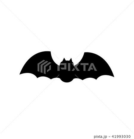 ハロウィン こうもり蝙蝠シルエット イラストのイラスト素材 41993030