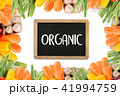 Organic grocery shopping fruits and vegetables  41994759