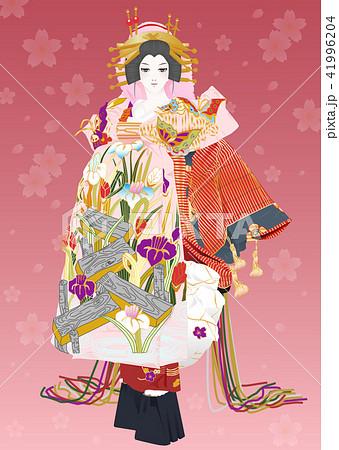 歌舞伎 籠釣瓶花街酔醒 八ツ橋 花魁のイラスト素材 41996204 Pixta