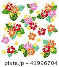 花 花柄 ハイビスカスのイラスト 41996704