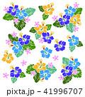 花 花柄 ハイビスカスのイラスト 41996707