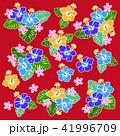 花 花柄 ハイビスカスのイラスト 41996709