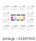 2019 カレンダー 暦のイラスト 41997042