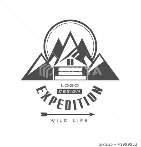 expedition logo design wild life sign vintage black and white