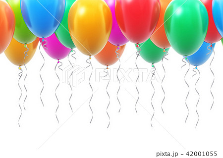 Background with color inflatable air balloons 42001055