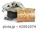ドル 紙幣 テロップのイラスト 42001074