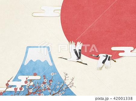 和モダン 富士山 鶴 正月(A3 350dpi) 42001338