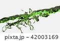 Green water surface splashing, 3D Rendering. 42003169