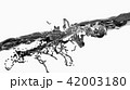 Black-white water surface splashing, 3D Rendering. 42003180