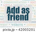 Social media concept: Add as Friend on wall background 42003201
