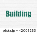Construction concept: Building on wall background 42003233
