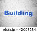 Building construction concept: Building on wall background 42003234