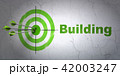 Constructing concept: target and Building on wall background 42003247