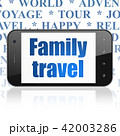 Travel concept: Smartphone with Family Travel on display 42003286