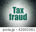 Law concept: Tax Fraud on Digital Data Paper background 42003361