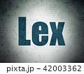 Law concept: Lex on Digital Data Paper background 42003362