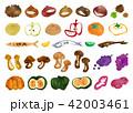 秋 水彩 食べ物のイラスト 42003461