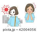 日焼け ビフォーアフター 女性のイラスト 42004056