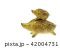 亥年 年賀素材〜親子のイノシシ 42004731