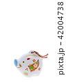 亥年 年賀素材〜イノシシの置物 42004738