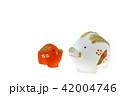 亥年 年賀素材〜親子のイノシシ うりぼうボカシ 42004746