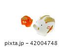 亥年 年賀素材〜親子のイノシシ うりぼうボカシ 42004748