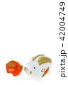 亥年 年賀素材〜親子のイノシシ うりぼうボカシ 42004749