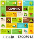 キャンプ 収容所 デザインのイラスト 42006948