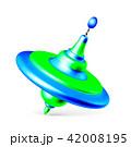 Whirligig toy isolated on white background 42008195