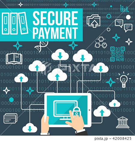 Vector poster of secure online payment 42008425