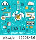 インターネット データ 保護のイラスト 42008436