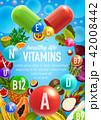 ビタミン くだもの フルーツのイラスト 42008442