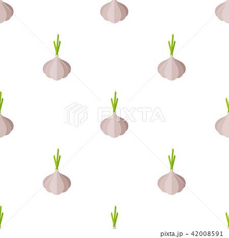 Decorative gray garlic vegetable seamless pattern 42008591