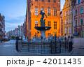 ポーランド 像 噴水の写真 42011435