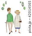 老夫婦 人物 シニアのイラスト 42014565