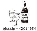 ボジョレーヌーボ ワイン 水彩画 42014954
