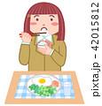 朝食 女の子 ベクターのイラスト 42015812