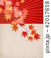 紅葉 秋 和柄のイラスト 42017658