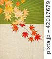 紅葉 秋 和柄のイラスト 42017679