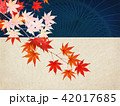 紅葉 秋 和柄のイラスト 42017685