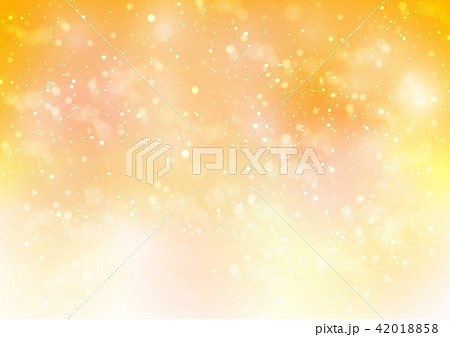 オレンジ背景秋色キラキラ 42018858