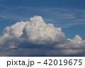 入道雲 夏雲 雲の写真 42019675